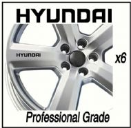 HYUNDAI CAR WHEEL DECALS